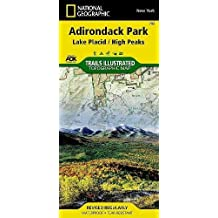 Adirondack Park: Lake Placid/High Peaks, New York, USA Outdoor Recreation Map