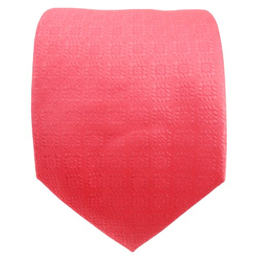 TigerTie satin cravate en soie rouge rosé à motifs - cravate en soie tie