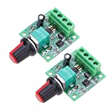 Onyehn 2Pcs 1.8v 3v 5v 6v 7.2v 12v 2A 30W Low Voltage DC Motor Speed Controller PWM 1803BK 1803B Adjustable Driver Switch 2 Pack Onyehn