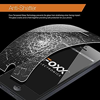 Iphone 6 Plus 5.5 Inch Tempered Glass Screen Protector Excellent Fitting Premium 9H Glass Featuring Anti-scratch, Anti-fingerprint, Bubble Free Features By Foxx Electronics