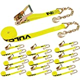 Vulcan Classic Ratchet Strap With Chain Anchors - 3,600 lbs. Safe Working Load (2'' x 30' - Pack of 10)