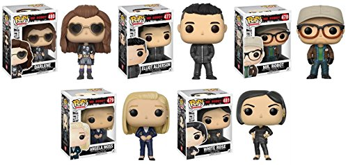 Funko POP! Mr Robot Darlene + Elliot + Angela Moss + Mr Robot + White Rose - TV Vinyl Figure Set NEW