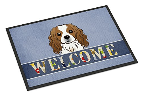 Caroline's Treasures BB1410MAT Cavalier Spaniel Welcome Indoor or Outdoor Mat, 18 x 27