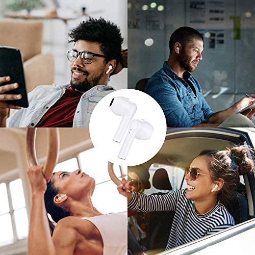 Wireless Earbuds, Air Podswireless Bluetooth 5.0 Headphones with 12Hrs Charging Case, three-D Stereo Air Buds in-Ear Ear Buds Built-in Mic,Pop-ups Auto Pairing, Compatible with iPhone and Android (AirPlus)