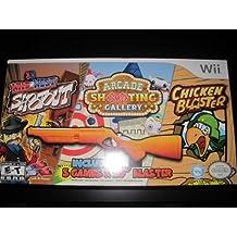 Wii 3 Game Blaster Bundle: 3D Wild West Shoot Out / Arcade Shooting Gallery / Chicken Blaster