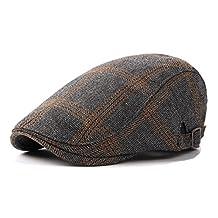 British Style Plaid Ivy Irish Newsboy Paperboy Cap Hat For Men
