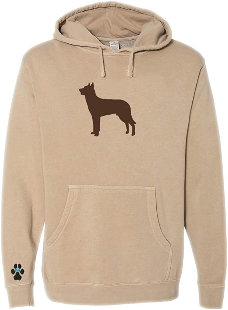 Heavyweight Pigment-Dyed Hooded Sweatshirt with Beauceron Silhouette