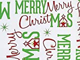 Pack Of 1, Merry Christmas Manger 24'' X 417' Roll Christmas Premium Gift Wrap Papers For 175 -200 Gifts Made In USA