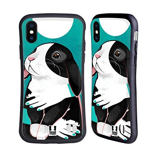 Huggable Body (Head Case Designs Rabbit Huggable Pets Hybrid Case for iPhone X)