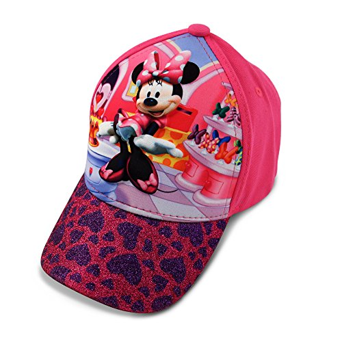 Disney Toddler Girls Minnie Mouse Character 3D Pop Baseball Cap, Pink, Age 2-4