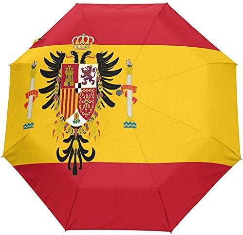 Merle House Paraguas Bandera española Golf Viajes Sol Lluvia Paraguas automáticos a Prueba de Viento con protección UV para niñas Niños Niños: Amazon.es: Hogar