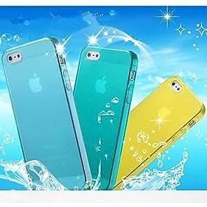 PEACH TPU Transparent Soft Cover Case for iPhone 5/5S (Assorted Colors) , Transparent