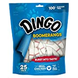 Cheap Dingo Rawhide Free Boomerangs For All Dogs, 25-Count