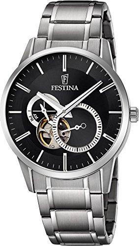 Festina Automatik F6845/4 Mens Wristwatch Solid Case