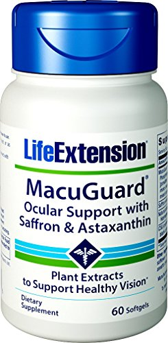 Life Extension MacuGuard Ocular Support with Saffron & Astaxanthin, 60 ()
