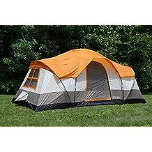 Tahoe Gear Olympia 10personas Tres temporada Familia Camping–Tienda de campaña, color naranja/Marfil