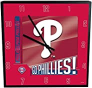 "Memory Company MLB Philadelphia Phillies Go Team! 12"" Square Clock, One Size, Multi"
