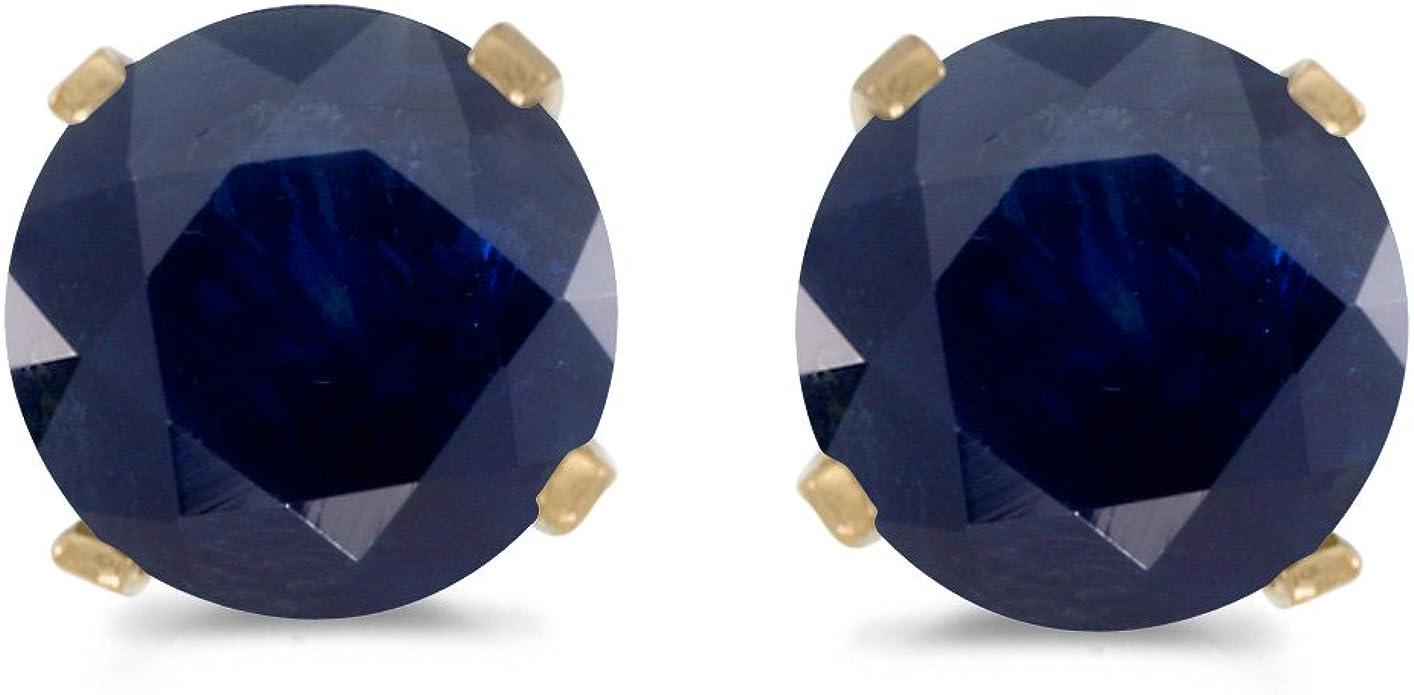 Hugh 5 mm Each 1.50 Carat Natural Sapphire Stud Earring