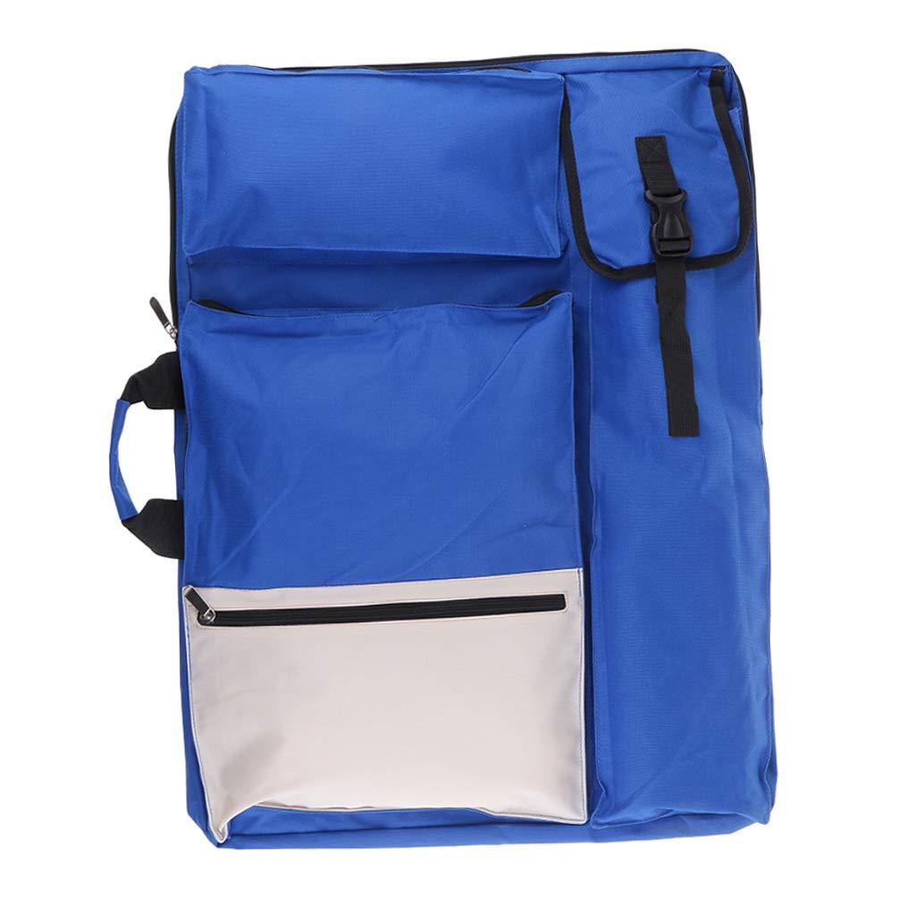 Travel Sketch Drawboard Bag for Drawing Sketching Painting Large Capacity Multifunctional Artists Field Sketching Carry Bags Artist Portfolio Backpack gray Waterproof Wear Resistant