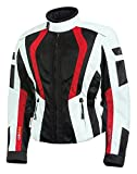 Olympia Moto Sports WJ411 Women's Airglide 5 Mesh Tech Jacket (Ivory/Black/Red, Medium)