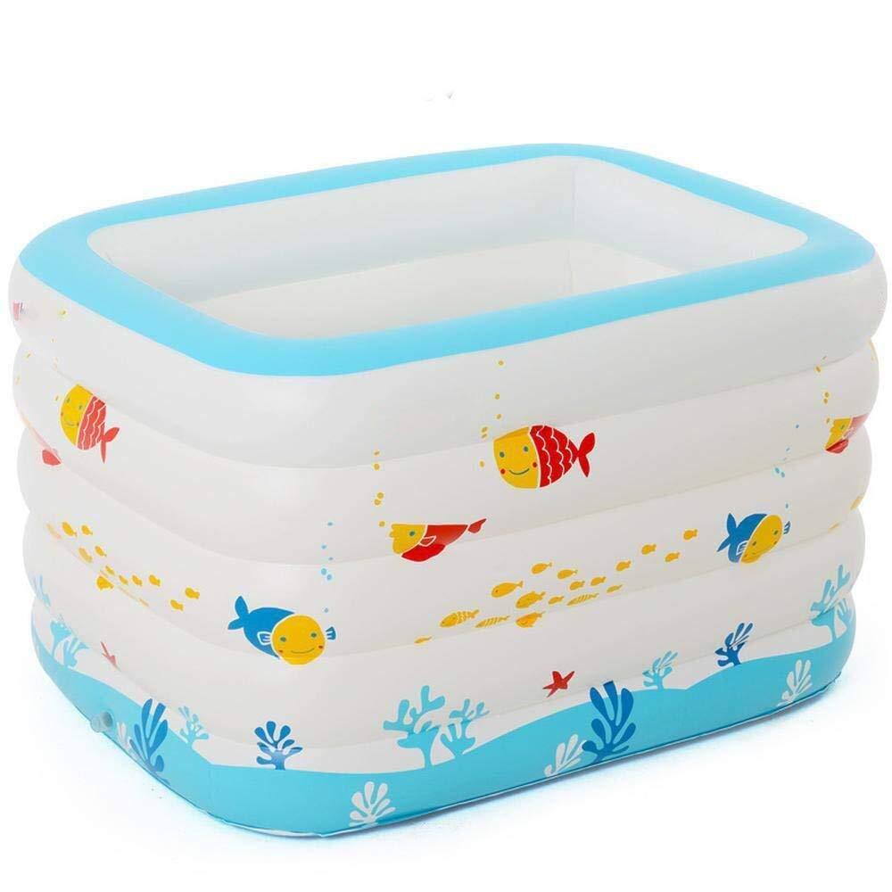 autentico en linea AYWJ La Piscina Inflable de los los los niños blancoos, Piscina de batimiento para los niños Que doblan la Piscina del baño -143  105  80cm  mejor servicio