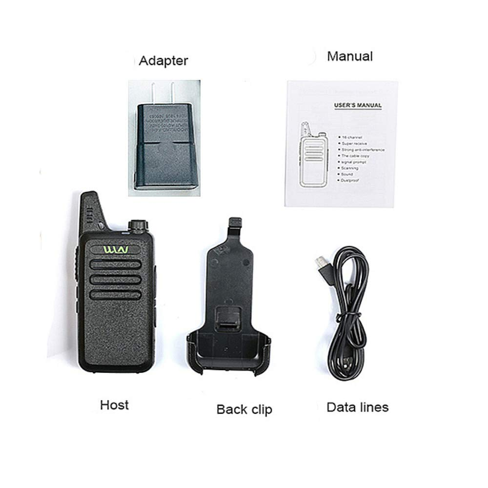 Xixou 1pc Wireless Portable Device WLN KD-C1 Small walkie-Talkie UHF400-470 MHz Communication walkie-Talkie Handheld CB HF Amateur Radio transceiver (1pc) by Xixou (Image #3)