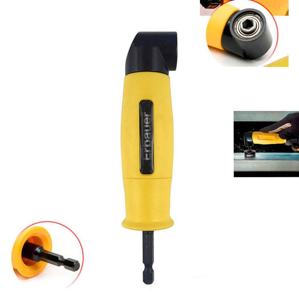 Perceuses /à angle droit adaptateur coud/é pour visseuse /électrique avec porte-embout magn/étique /à changement rapide 1//4 6.35mm Inoxydable Hex Jaune