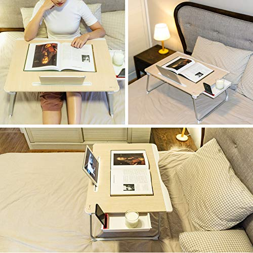 Cooper Table Mate [Folding Laptop Desk for Bed & Sofa] Couch Table, Bed Desk for Laptop, Writing, Study, Eating | Storage, Reading Stand (Black Onyx) by Cooper Cases (Image #8)
