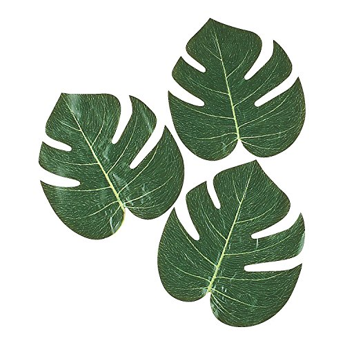 Moana Birthday Decorations - Tropical Leaves (Pack of 12), 8""