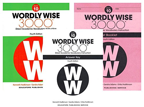 Wordly Wise 3000 Fourth Edition Student Edition + Test Booklet + Answer Key Set Grade -