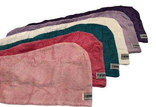 Turbie Twist Cotton Hair Towel (6 Pack) Dk Purple, Lt Purple, Dk Pink, Lt Pink, White, Blue by Turbie Twist