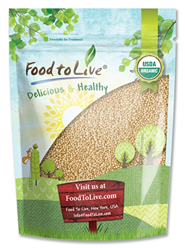Food to Live Certified Organic Amaranth Grain (Whole Seeds, Non-GMO, Kosher, Bulk) (3 Pounds)