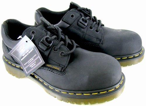 Dr. Martens Heritage Steel Teen Work Oxford Shoe Zwart