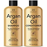 Health & Personal Care : Radha Beauty Argan Oil Shampoo & Conditioner Set, 16 fl oz. for Daily Use, Moisture, and Hair Restoration - Sulfate Free for Men & Women