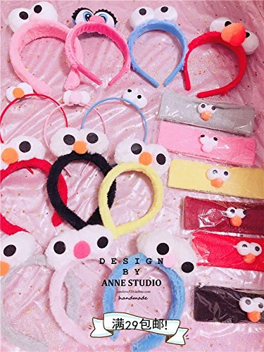 29 Sesame Street plush big eyes, funny hoop headband suit children's sports headband hair accessories for women girl lady