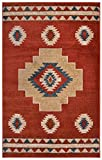 Nevita Collection Southwestern Native American Design Area Rug Southwest Design Rugs Geometric South West Pattern (Tribal Orange (Terra), 2 x 4)