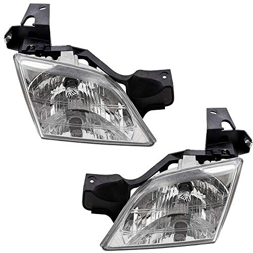 (Driver and Passenger Headlights Headlamps Replacement for Chevrolet Oldsmobile Pontiac Van 10368389 10368388 )