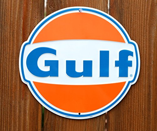 HangTime Gulf Oil Nostalgia Sign Die Cut