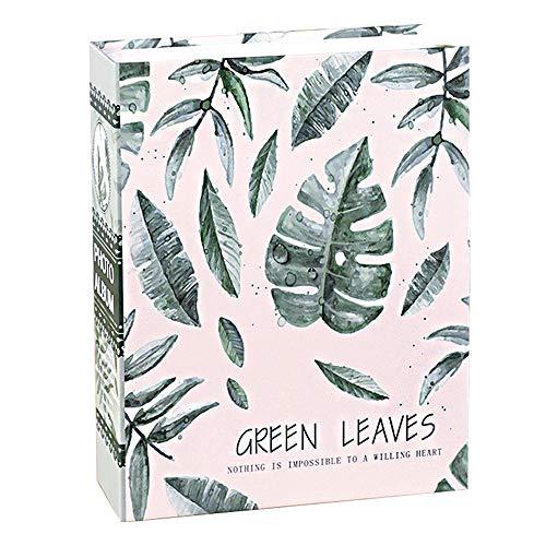 - aoory 7x5 Green Leaf Photo Album Random Pattern Capacity: 100pcs