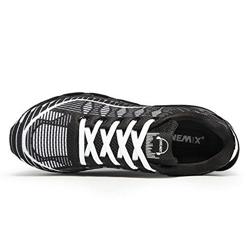 Onemix Heren Lucht Loopschoenen Toevallige Atletische Sneakers Zwart