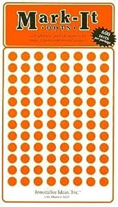 "Map Dot Stickers - 1/4"" Diameter - Orange"