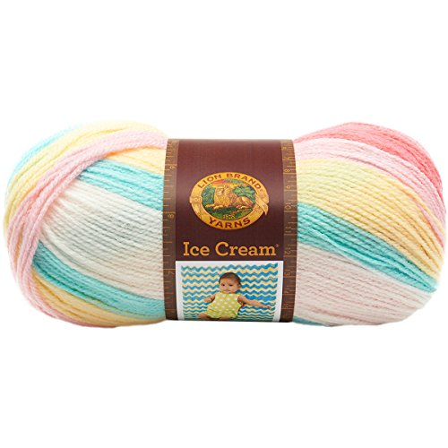 Lion Brand Yarn 923-206 Ice Cream Yarn, Tutti Frutti