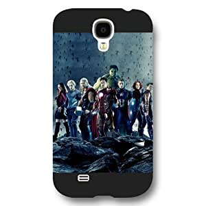 UniqueBox Customized Marvel Series Case for Samsung Galaxy S4, Marvel Comic Hero The Avengers Samsung Galaxy S4 Case, Only Fit for Samsung Galaxy S4 (Black Frosted Case)