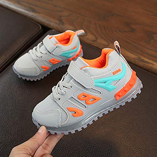 Boys Girls Led Light Luminous Shoe Mesh Outdoor Casaul Shoes(Toddler/Little Kid/Big Kid) by Lurryly (Image #2)