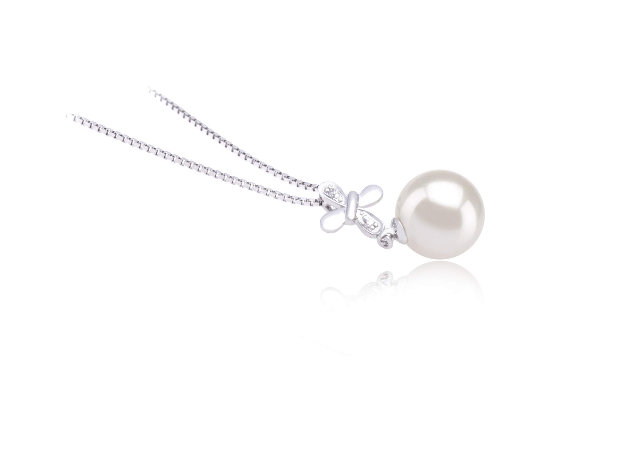 Taylor White 9-10mm AAAA Quality Freshwater 925 Sterling Silver Cultured Pearl Pendant For Women by PearlsOnly (Image #3)
