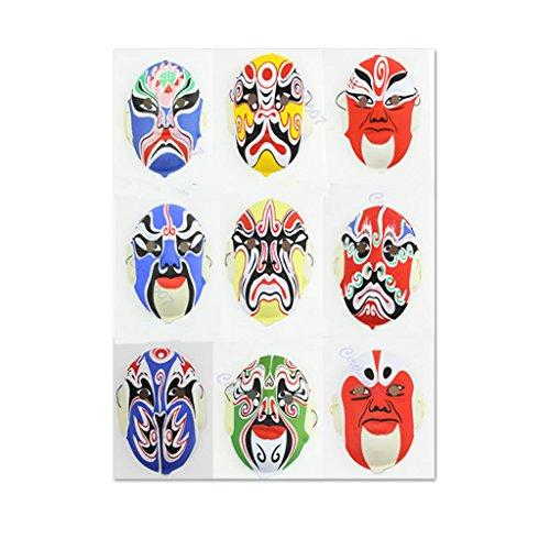 Yumian Chinese Art Pulp Peking Opera Style Mask Hand Painted Culture Paper Festival