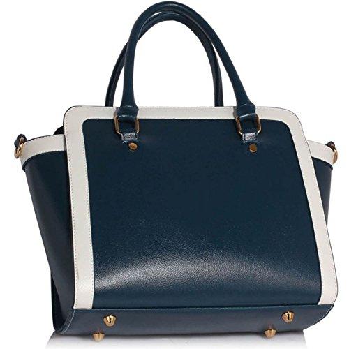 Xardi London monocromatico multi donne borse a tracolla da donna in pelle sintetica design Grab Bags Navy/White Style 2