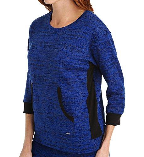 (DKNY Weekend Stroll 3/4 Sleeve Top (2113408) M/Lapis Yardye)