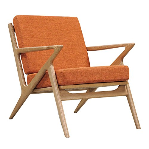 NyeKoncept 224478-A Burnt Orange Zain Chair, Natural from NyeKoncept