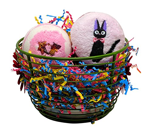 Candy Cakes Bath Bomb and Kitty Couture Towel Gift Set For Mother's Day (Watermelon) (Candy Couture)
